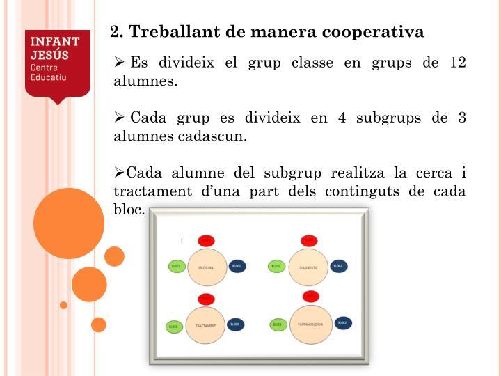 Es divideix el grup classe en grups de 12 alumnes.