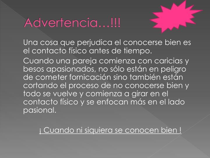 Advertencia…!!!