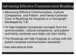 advancing effective communication roadmap