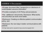 ashrm 4 documents