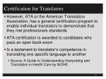 certification for translators