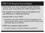 cms cop hospital patient rights
