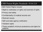 cms patient rights standards 0116 214