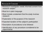 research consent