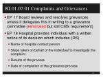 ri 01 07 01 complaints and grievances