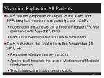 visitation rights for all patients