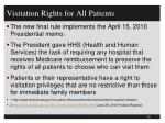 visitation rights for all patients1