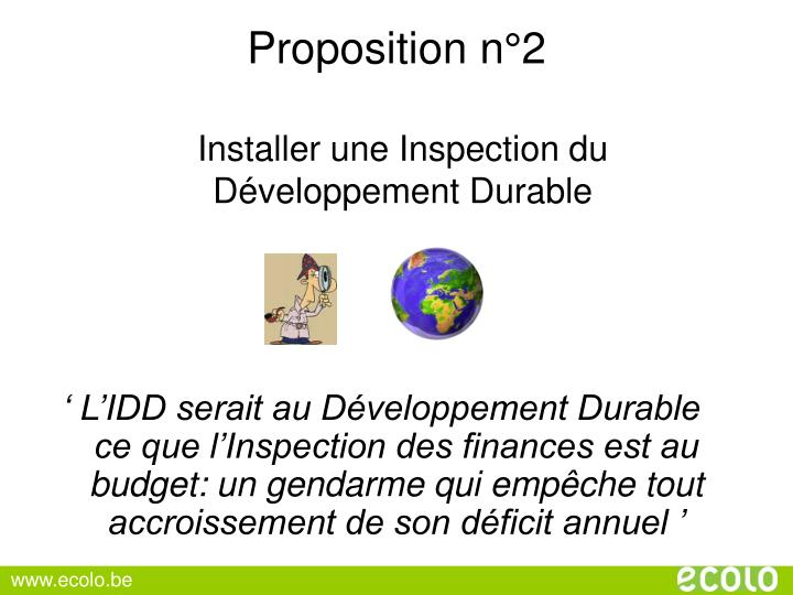 Proposition n°2