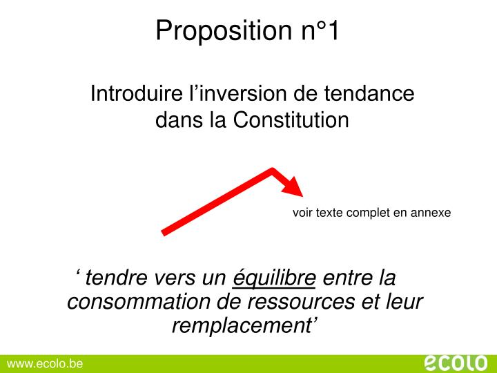 Proposition n°1
