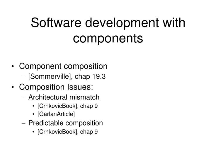 software development with components