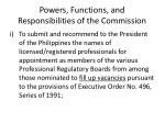 powers functions and responsibilities of the commission14