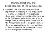 powers functions and responsibilities of the commission16
