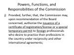 powers functions and responsibilities of the commission17