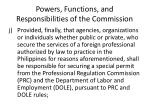 powers functions and responsibilities of the commission19