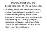 powers functions and responsibilities of the commission2
