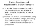 powers functions and responsibilities of the commission21