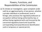 powers functions and responsibilities of the commission25