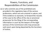 powers functions and responsibilities of the commission26