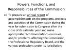 powers functions and responsibilities of the commission27