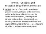 powers functions and responsibilities of the commission6