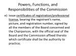powers functions and responsibilities of the commission9