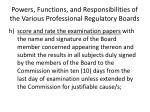 powers functions and responsibilities of the various professional regulatory boards7
