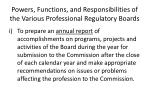 powers functions and responsibilities of the various professional regulatory boards9