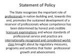 statement of policy