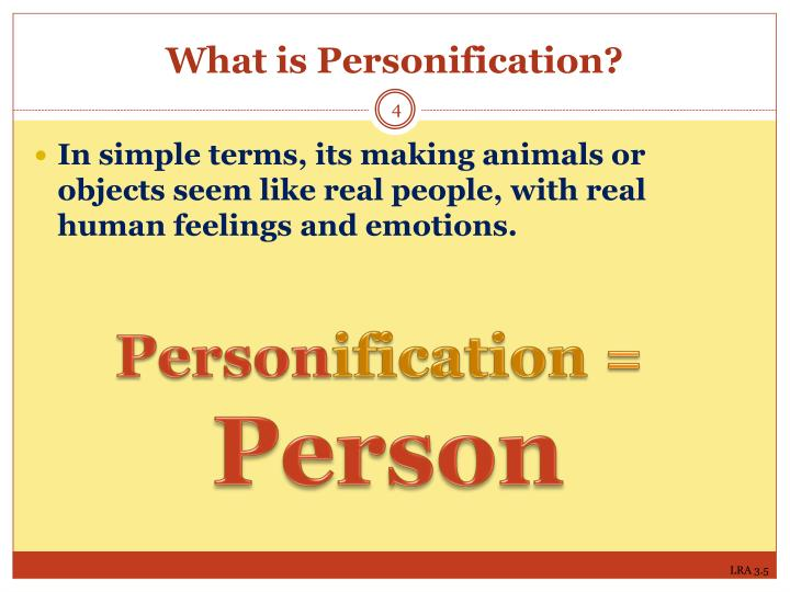What is Personification?
