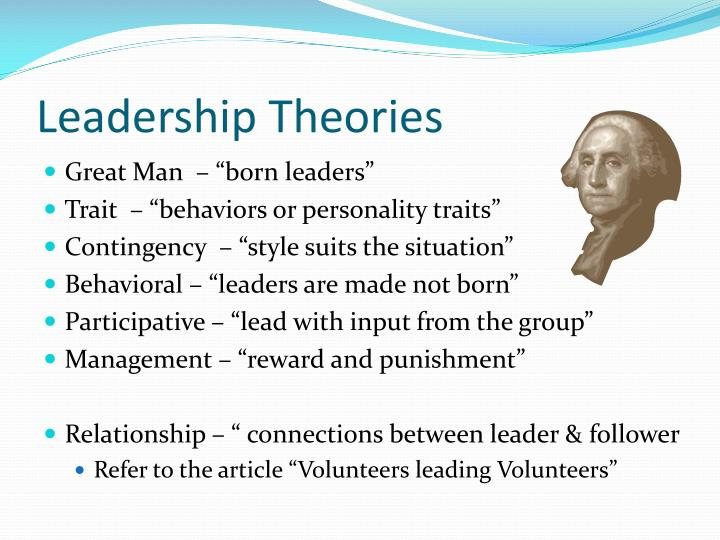compare and contrast the trait and behavioral approaches to leadership Most theories view leadership as grounded in one or more of the following three perspectives: leadership as a process or relationship, leadership as a combination of traits or personality characteristics, or leadership as certain behaviors or, as they are more commonly referred to, leadership skills.