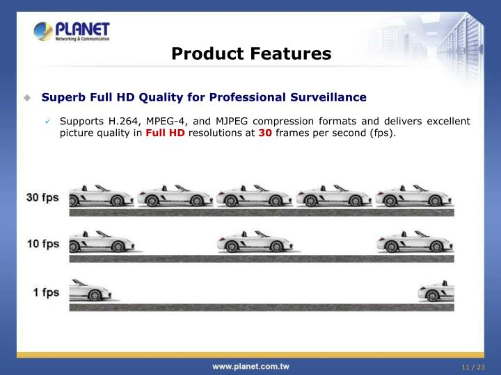 Product Features