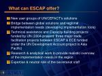 what can escap offer