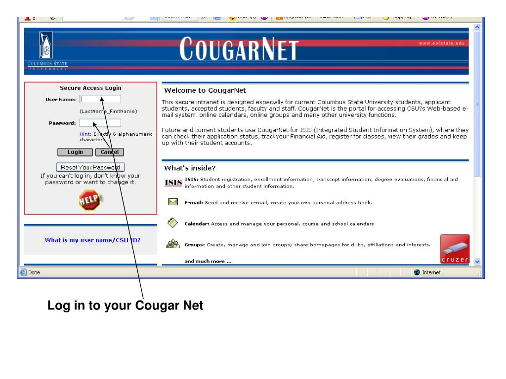 cougar mail sign in