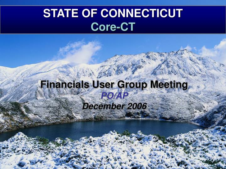 state of connecticut core ct n.