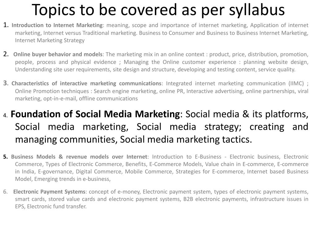 PPT - INTERNET MARKETING CHAPTER4 Social Media Marketing