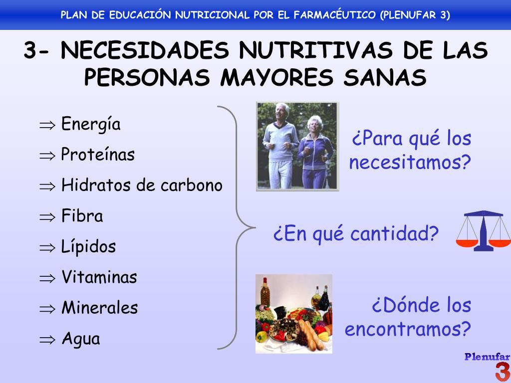 educación nutricional para personas mayores