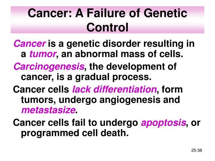 Cancer: A Failure of Genetic Control