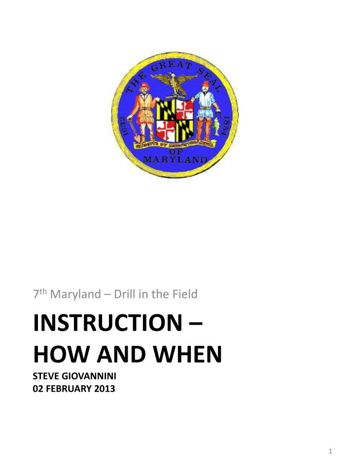 instruction how and when steve giovannini 02 february 2013 n.
