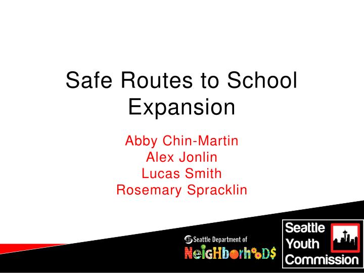 Safe routes to school expansion