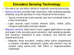 encoders sensing technology