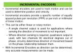 incremental encoders