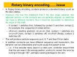 rotary binary encoding issue