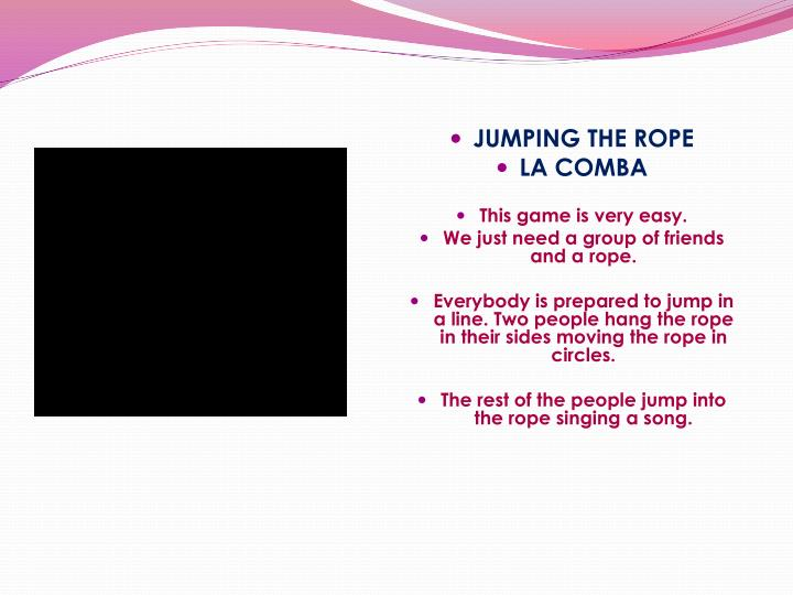 JUMPING THE ROPE