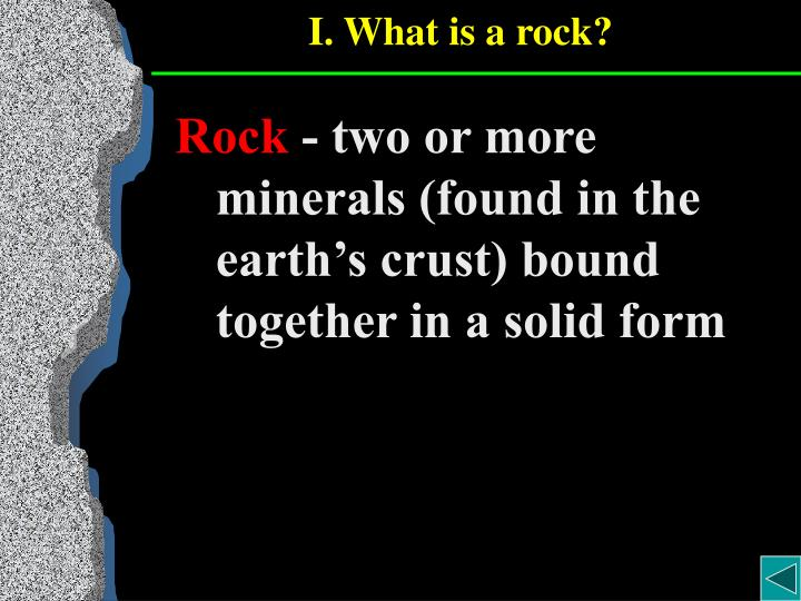 I what is a rock