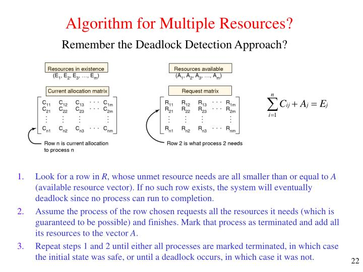 Algorithm for Multiple Resources?