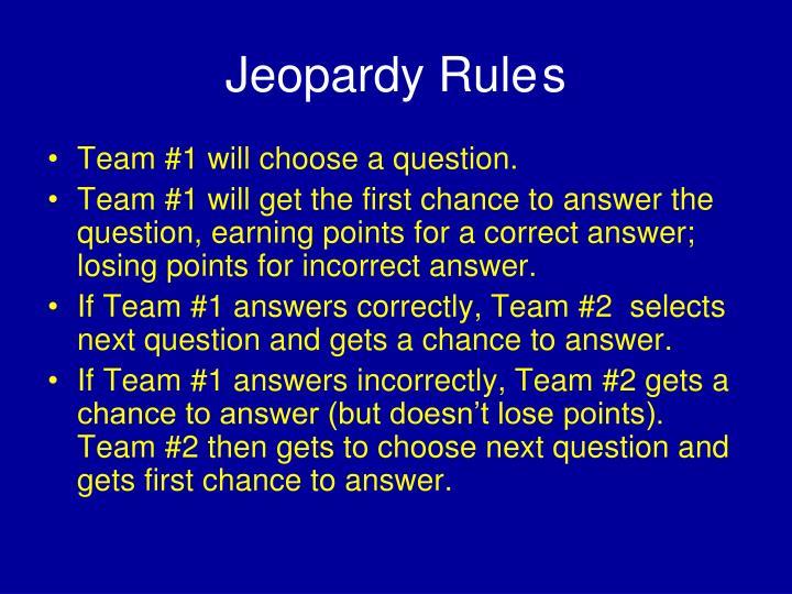Jeopardy rule s