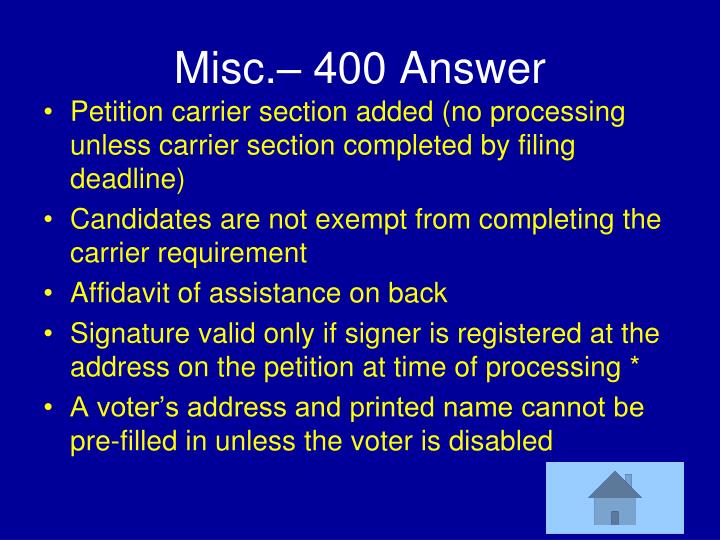 Misc.– 400 Answer