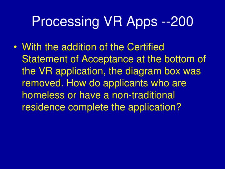 Processing VR Apps --200