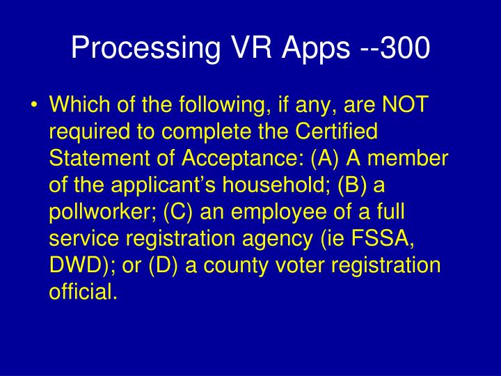 Processing VR Apps --300