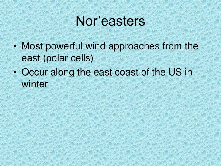 Nor'easters